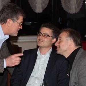L. Ditter, SPD-Vorsitzender Frankenhain, Bgm-Kandidat Dr. Fabio Longo, SPD-Stadtverbandsvorsitzender Helmut Schwedhelm